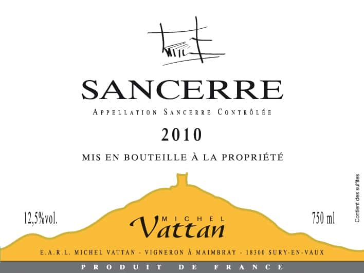 Label Sancerre Vattan