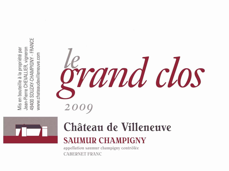 Villeneuve Grand Clos Label