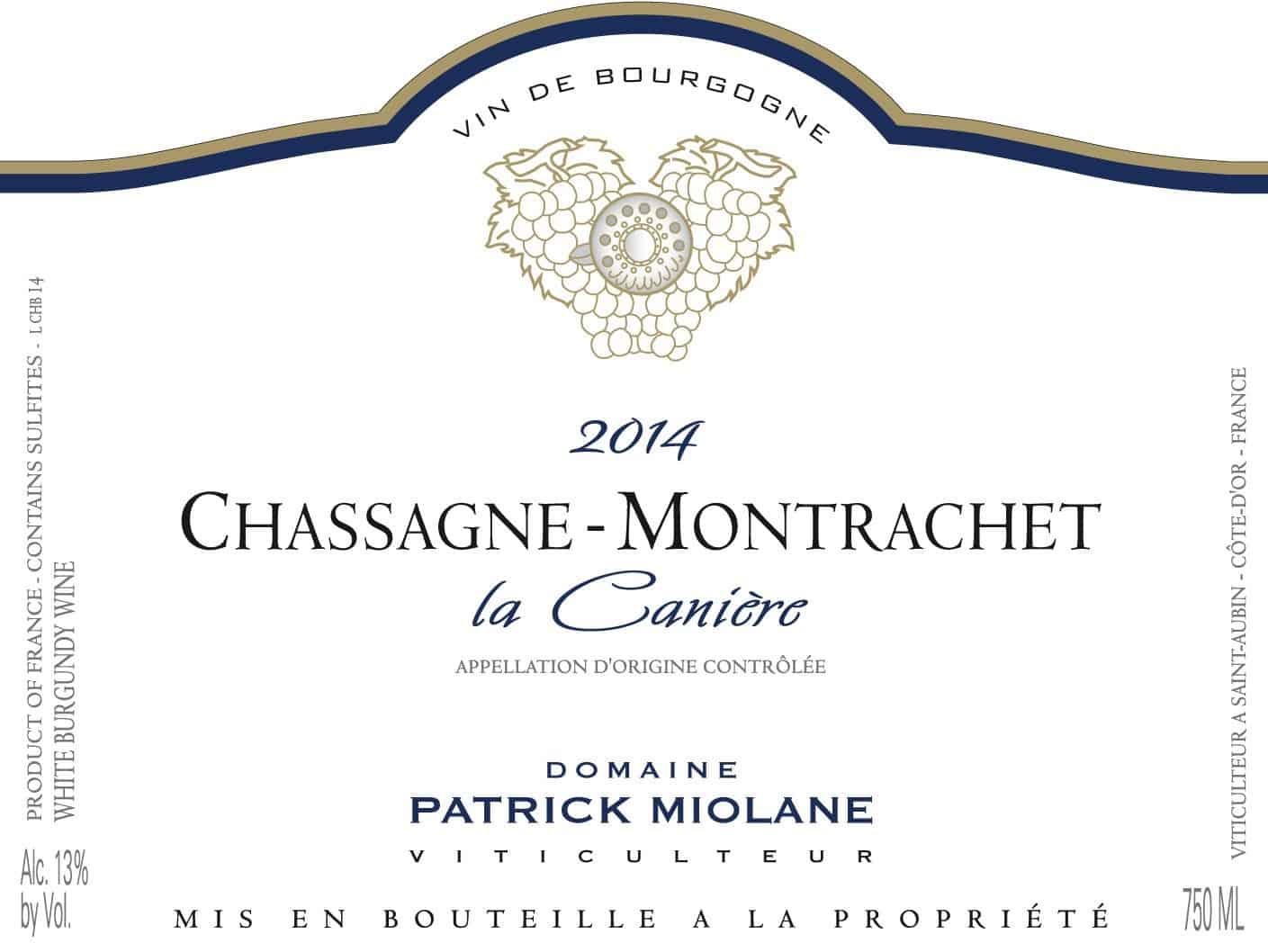Chassagne Canière blc 2014