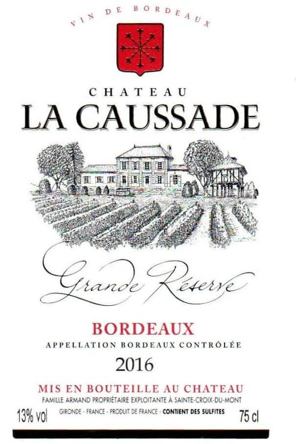 Etiquette La Caussade Grande Réserve 2016 (BR)