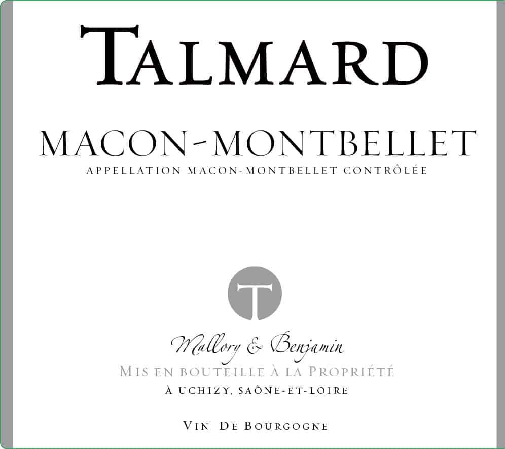 etiquette Maccon Montbellet neutre