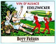 Label Bott Freres Edelzwicker