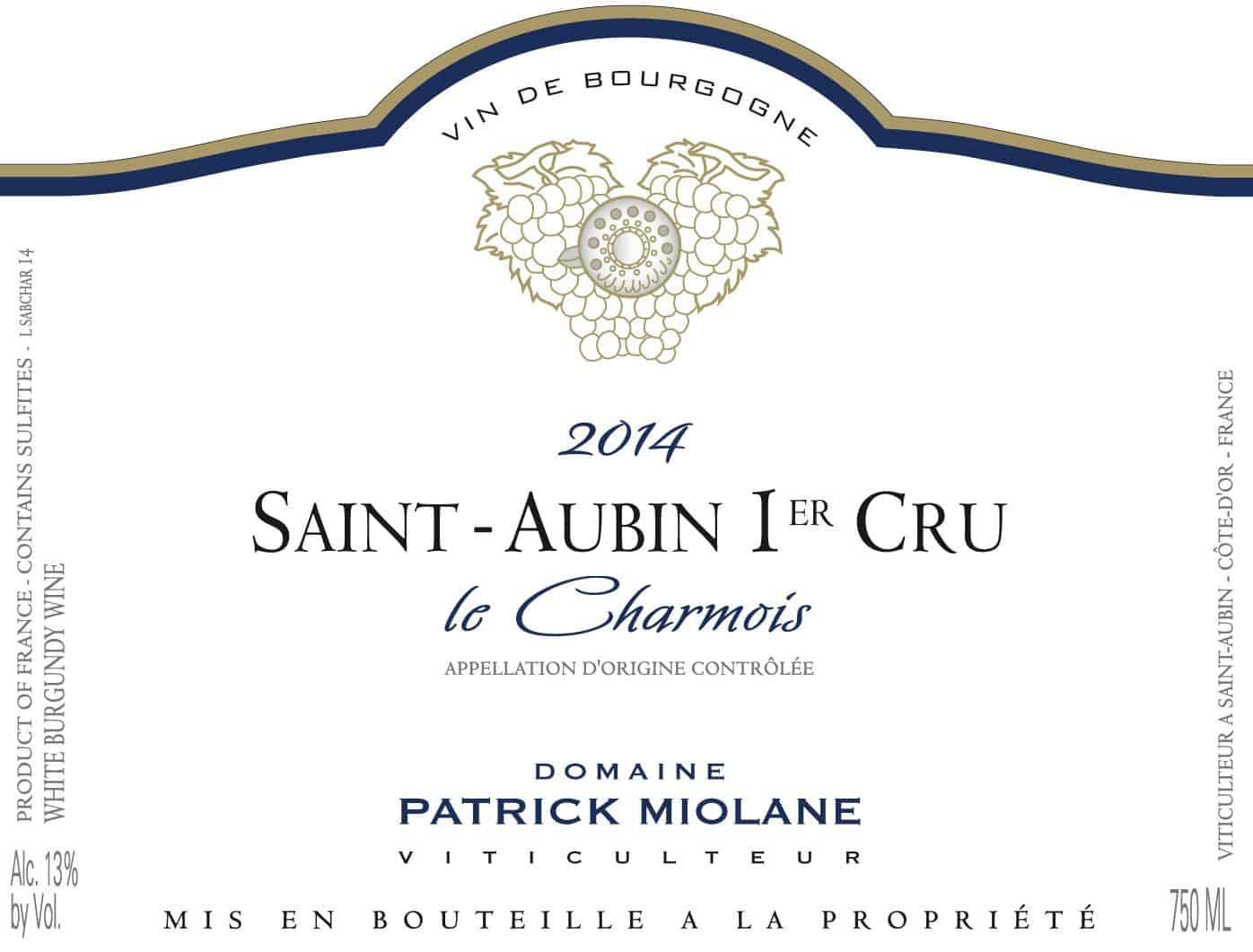 St Aubin Charmois blc 2014