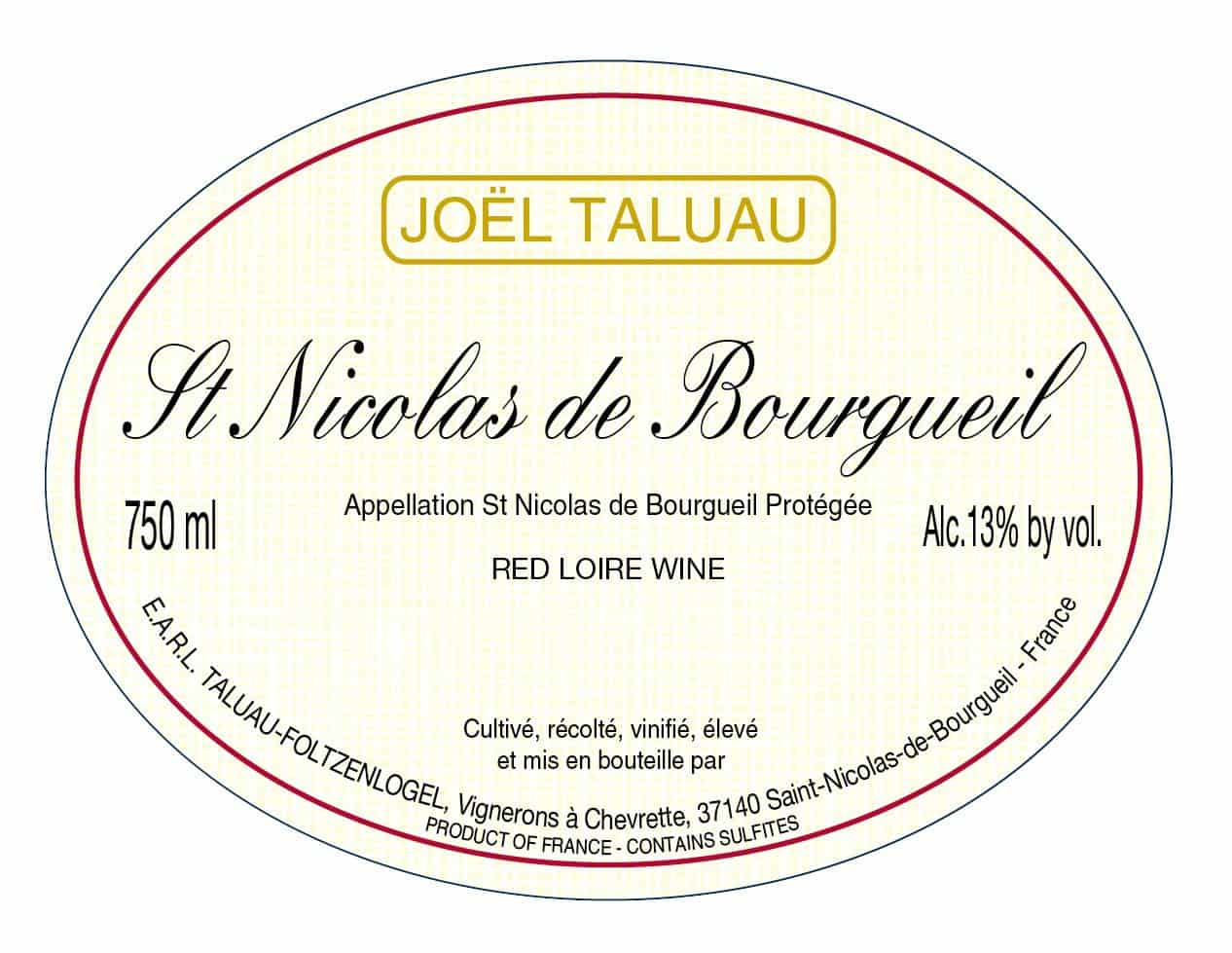 St Nicolas de Bourgueil Red loire wine jpeg
