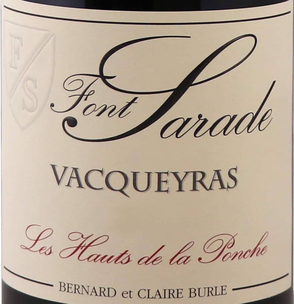 VACQUEYRAS HAUTS DE LA PONCHE label