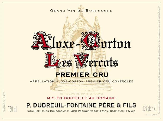 Label ALOXE-CORTON LES VERCOTS