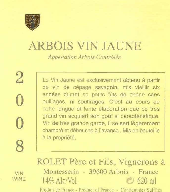 Arbois Vin Jaune 2008