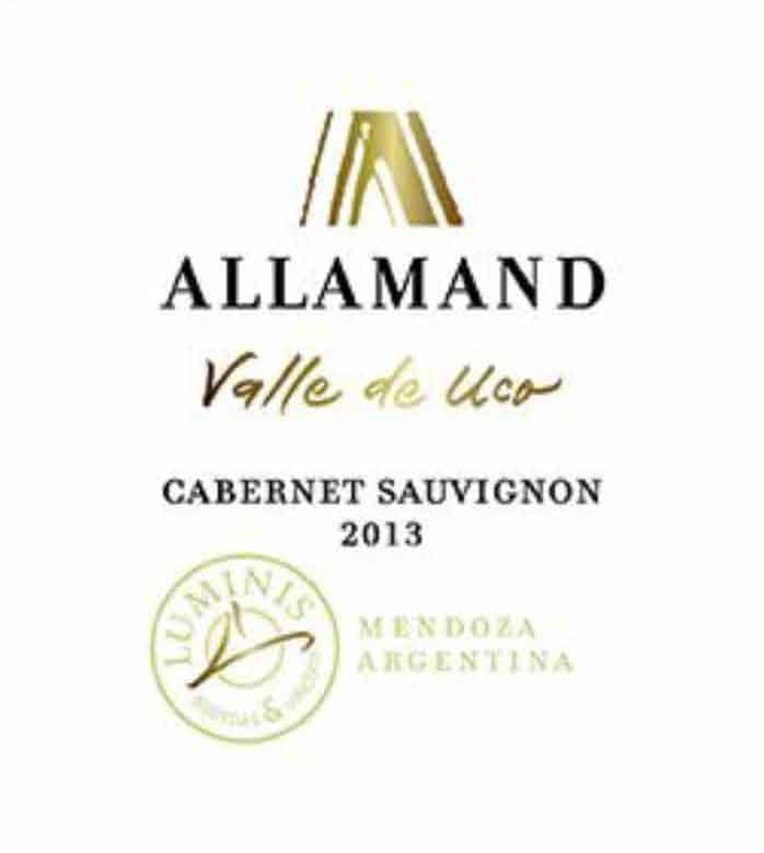 Label Allamand Valle de Uco Cab.Sauv. 2013