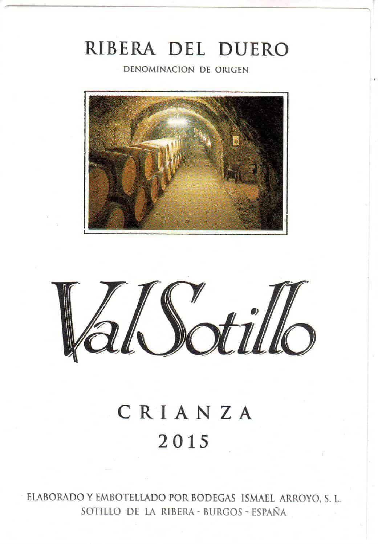 ValSotillo Crianza 2015-front