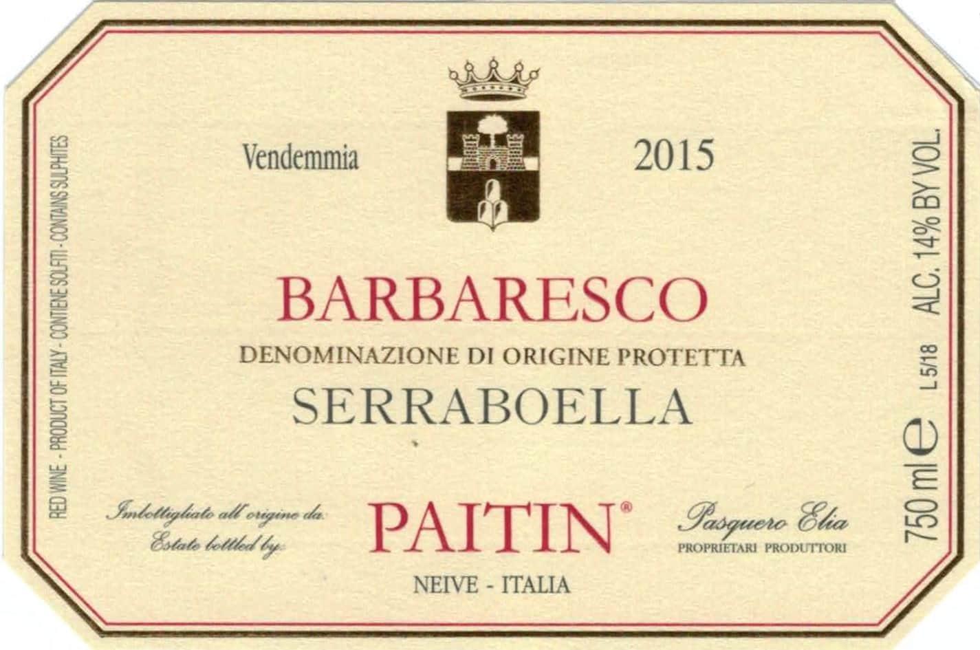 Paitin Barbaresco Serraboela