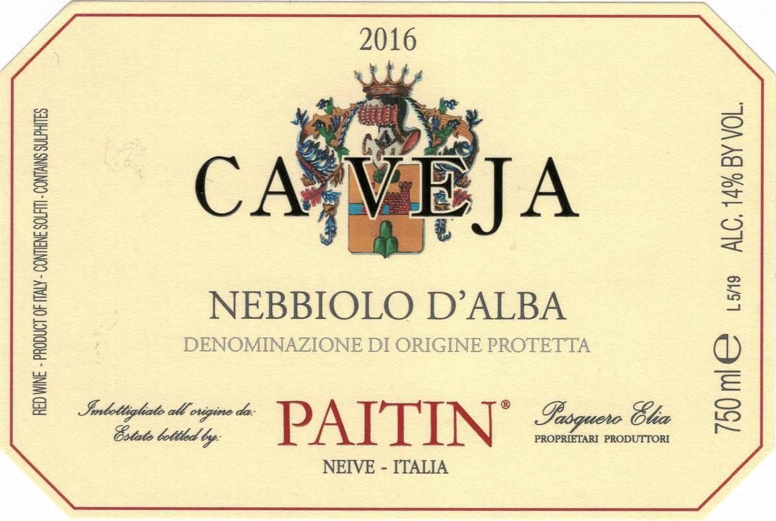 Paitin Cave Nebbiolo dAlba