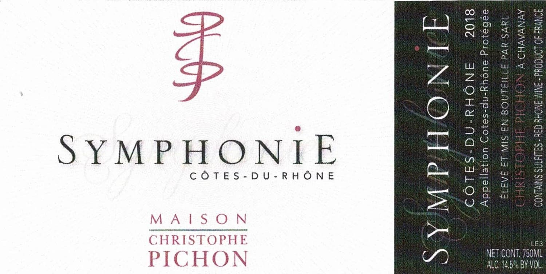 etiquette cote du rhone symphonie presemtato